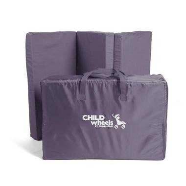 Childhome, Składany materac do łóżeczek turystycznych 60x120 cm Antracyt