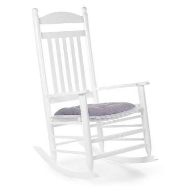 Childhome, Krzesełko bujane LUX lakierowane białe + poduszka