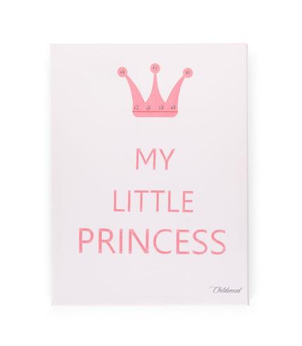 Childhome, Obrazek My Little Princess biało-rózowy 30x40cm