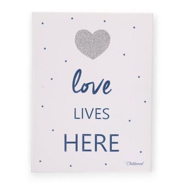 Childhome, Obrazek Heart granatowy 30x40 cm