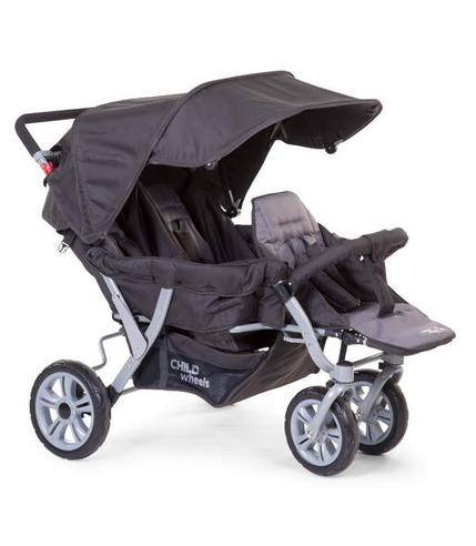 Childhome, Triplette wózek 3-osobowy antracyt