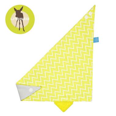 Lassig, apaszka z Silikonowym Gryzakiem Zigzag yellow
