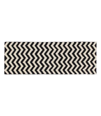 Dywan BLACK&WHITE 80x230cm ZIGZAG