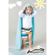 Lassig, ręcznik z kapturem Aqua