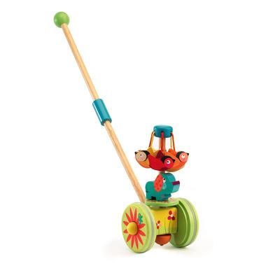 Djeco, drewniana zabawka do pchania KARUZELA