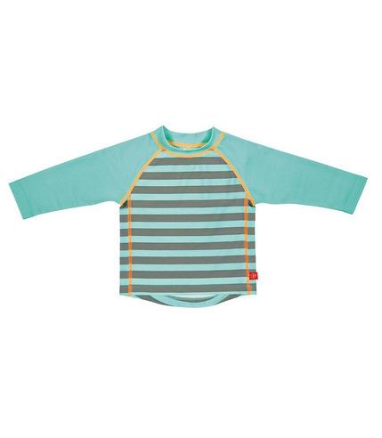 Lassig, koszulka do pływania z długim rękawem Striped aqua, UV 50+, 18-24 mcy
