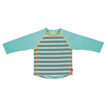 Lassig, koszulka do pływania z długim rękawem Striped aqua, UV 50+, 24-36 mcy