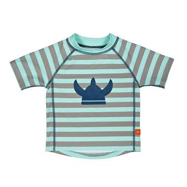 Koszulka T-shirt do pływania Striped aqua, UV 50+, 0-6 mcy