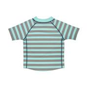 Lassig, koszulka T-shirt do pływania Striped aqua, UV 50+, 0-6 mcy