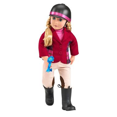 Lalka Lily Anna DŻOKEJKA z dodatkowym zestawem ubranek i akcesoriami