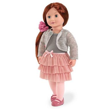 Lalka AYLA  szatynka w spódniczce z falbankami