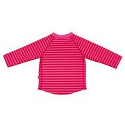 Lassig, koszulka do pływania z długim rękawem Pink stripes, UV 50+, 6-12 mcy