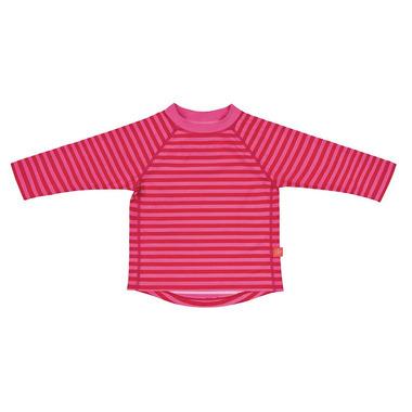Lassig, koszulka do pływania z długim rękawem Pink stripes, UV 50+, 24-36 mcy