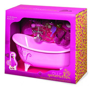 Our Generation, Pink Bathtub and Accessories Set