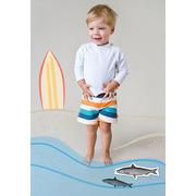 Lassig, spodenki do pływania z pieluszką Multistripe, UV 50+, 6-12 mcy