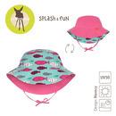 Lassig, kapelusz dwustronny UV 50+ Light pink, 6-18 mcy
