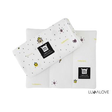 Lullalove, zestaw 1 otulacz 100x100 i 1 poduszka 30x20 - księżniczka