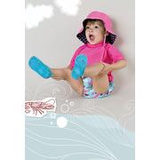 Lassig, koszulka T-shirt do pływania Light pink, UV 50+, 18-24 mcy