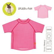 Lassig, koszulka T-shirt do pływania Light pink, UV 50+, 24-36 mcy