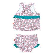 Lassig, kostium do pływania dwuczęściowy z wkładką Flowers, UV 50+, 0-6 mcy