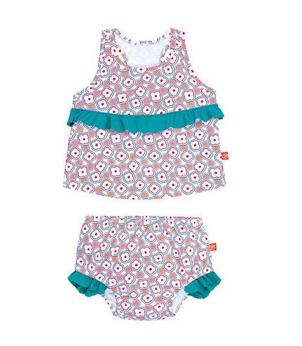 Lassig, kostium do pływania dwuczęściowy z wkładką Flowers, UV 50+, 12-18 mcy