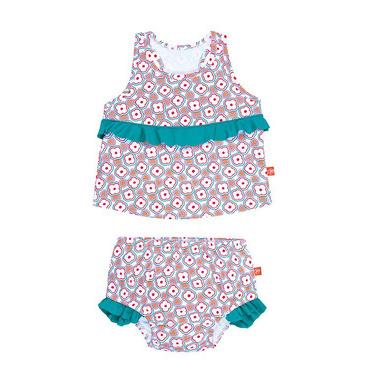 Lassig, kostium do pływania dwuczęściowy z wkładką Flowers, UV 50+, 18-24 mcy