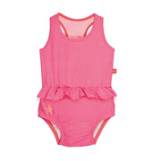 Lassig, kostium do pływania jednoczęściowy z pieluszką Light pink, UV 50+, 12-18 mcy