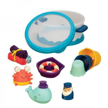Btoys, wee B. Splashy - Zestaw dla niemowląt - NIEBIESKI - do kąpieli