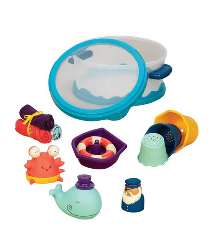 Wee B. Splashy - Zestaw dla niemowląt - NIEBIESKI - do kąpieli