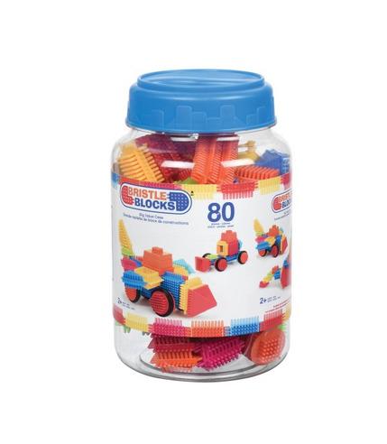 Bristle Blocks in Jar - Klocki jeżyki - 80 elementów w słoju