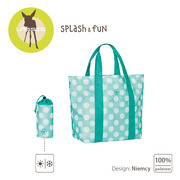 Lassig, torba plażowa Dots Aqua