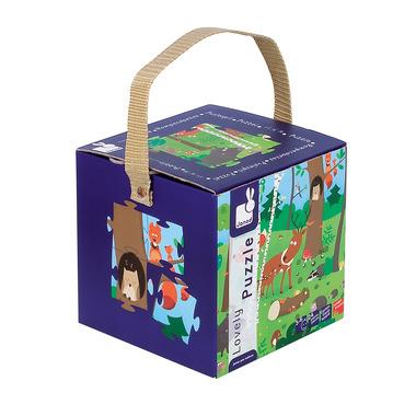 Janod, puzzle las w pudełku