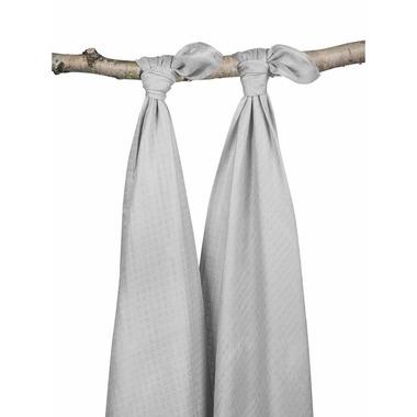 Jollein, Duży otulacz bambusowy 115x115cm  Szary 2 sztuki