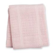 Lulujo, Kocyk Bawełniany Tkany Pink