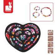 Janod, zestaw do tworzenia biżuterii 250 koralików Dziewczynka,