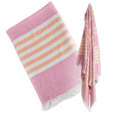 Lulujo, Ręcznik Turecki 3w1  Różowy