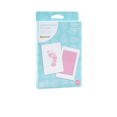 Atramentowy odcisk rączki/stópki - bezdotykowy różowy
