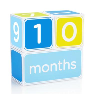 Kostki z dniami, tygodniami, miesiącami i latami - niebieskie
