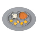 EZPZ, silikonowy talerzyk z podkładką mały 2w1 Mini Mat szary