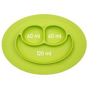 EZPZ, silikonowy talerzyk z podkładką mały 2w1 Mini Mat zielony