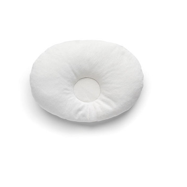 Poduszka dla niemowlaka wypełniona łuskami jęczmienia (biała)