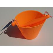 Scrunch-bucket Wiaderko silikonowe, Fluo Pomarańcz