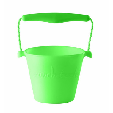 Scrunch-bucket Wiaderko silikonowe, Fluo Zielony