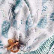 Pieluszki bambusowo-muślinowe 55x60cm 2szt Floral turkus&Milky Way