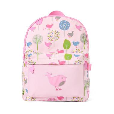 Duży plecak różowy w ptaszki