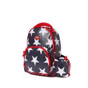 Mały plecak z kieszeniami granatowy w gwiazdy
