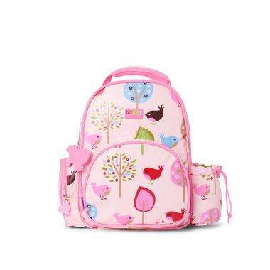 Mały plecak różowy w ptaszki
