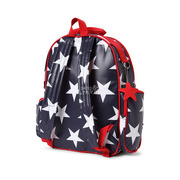 Duży plecak z kieszeniami granatowy w gwiazdy