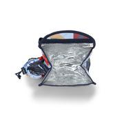 Plecak lunchbox z osobną kieszonką na picie błękitny w autka