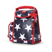 Plecak lunchbox z osobną kieszonką na picie granatowy w gwiazdy